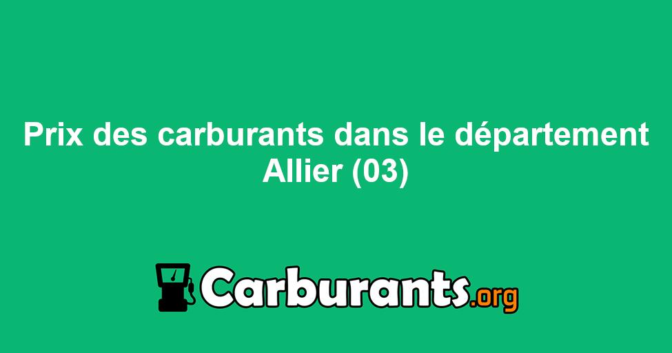 Ou Trouver Le Carburant Le Moins Cher Dans L Allier 03 Trie Par Prix Les Plus A Jour