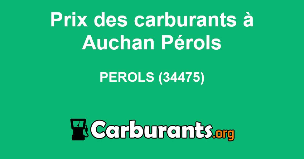 Station Essence Auchan Pérols à Perols Carburants